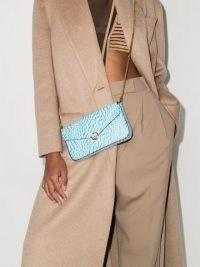 Fendi FF Vertigo-print clutch bag cyber blue/white – Fendi crossbody bags