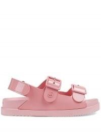 Gucci mini Double G pink rubber sandals