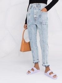 Isabel Marant Étoile high-rise cropped jeans   womens seam and pocket detail crop-hem denim jeans