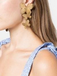 Jennifer Behr Alessandra butterfly earrings – statement drops – jewellery with butterflies