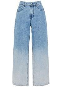 MARNI Blue dégradé wide-leg jeans | womens blue designer denim