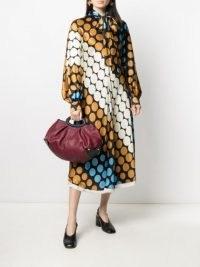 Marni long-sleeve polka-dot dress   retro pussy bow dresses   womens vintage style fashion   women's designer clothing
