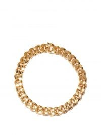 BOTTEGA VENETA Curb-chain gold-plated sterling-silver necklace – womens chunky necklaces