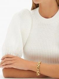 PATCHARAVIPA Diamond, sapphire & 18kt gold chain bracelet – women's luxe bracelets – women's fine luxury jewellery