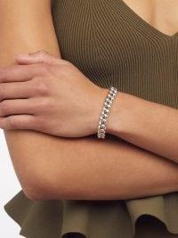 SHAY 18kt white-gold chain-link bracelet – chunky chain bracelets – womens fine jewellery