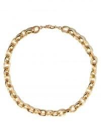 MARIE LICHTENBERG Rosa 10kt gold chain choker – womens large chain chokers – women's fine luxe jewellery