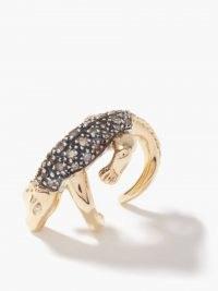 BIBI VAN DER VELDEN The Agile Alligator diamond & 18kt gold ear cuff / animal earring cuffs / womens fine jewellery