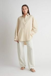 CAMILLA AND MARC Naein Shirt in Beige Marle ~ women's chic oversized contemporary shirts ~ womens minimalist overshirts ~ slouchy and sleek shackets