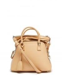 MAISON MARGIELA 5AC mini beige-leather handbag | small luxe designer handbags