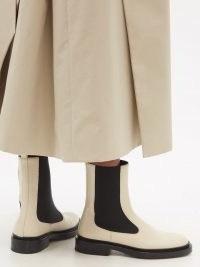 JIL SANDER Beige leather Chelsea boots ~ women's designer footwear