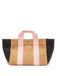 RUE DE VERNEUIL Parcours S wool-blend melton tote bag ~ chic neutral colour block shopper bags ~ small stylish shoppers