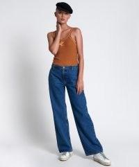ONETEASPOON ROSEWOOD RYDERS MID WAIST WIDE LEG JEANS   one teaspoon womens denim fashion