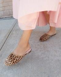 Loeffler Randall Paola Leopard Ballet Mule | luxe animal print flat mules | velvet slip on balerina flats | beautiful ballerinas