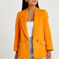 RIVER ISLAND Petite orange blazer / women's bright blazers / womens fashionable jackets