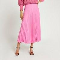 River Island Pink pleated midi skirt | effortless style skirts