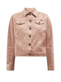 TOM FORD Pink silk and cotton-blend denim jacket ~ womens luxe casual jackets