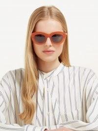 LOEWE Butterfly cat-eye acetate sunglasses   womens summer eyewear   women's large oversized sunnies