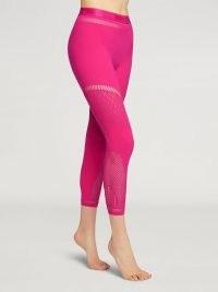 Wolford SHURI 7/8 LEGGINGS ~ womens pink activewear pants ~ yoga clothing ~ loungewear
