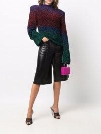 The Attico colour block metallic knit jumper ~ womens vintage style knitwear ~ women's glittering retro jumpers
