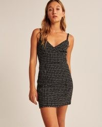 Abercrombie & Fitch Tweed Mini Dress ~ strappy check print dresses