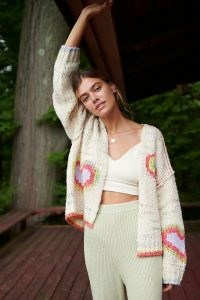 Daily Practice by Anthropologie Love Me Cardigan / slouchy open front cardigans / snugly loungewear knits / lounge knitwear