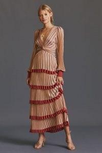 Cecilia Prado Deco Knit Maxi Dress | layered vintage style occasion dresses | retro knitted fashion