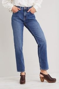 Nudie Jeans Straight Sally Jeans | women's 100% organic cotton fashion | womens blue denim eco conscious clothing