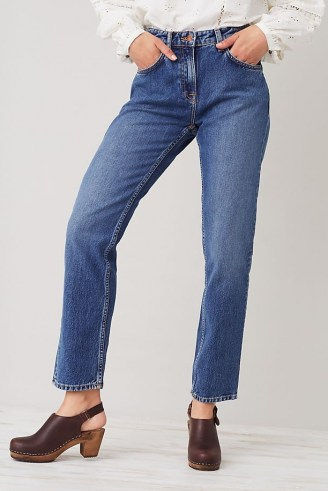 Nudie Jeans Straight Sally Jeans   women's 100% organic cotton fashion   womens blue denim eco conscious clothing - flipped