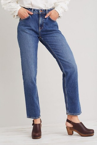 Nudie Jeans Straight Sally Jeans   women's 100% organic cotton fashion   womens blue denim eco conscious clothing