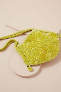 Hvisk Beaded Alore Bag Lime – beaded bags – luxe style shoulder bags