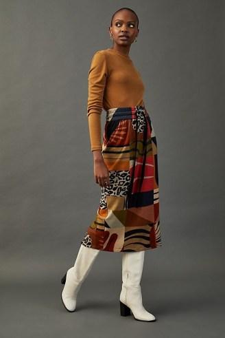 Conditions Apply Gerri Midi Skirt – multi print skirts – mixed prints - flipped