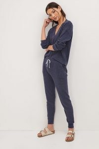 Daily Practice by Anthropologie Knit Lounge Set Navy / womens dark blue loungewear sets
