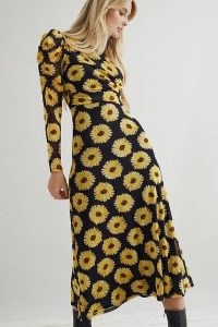 Fabienne Chapot Bella Midi Dress / floral print dresses with long puffed sleeves