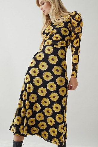 Fabienne Chapot Bella Midi Dress / floral print dresses with long puffed sleeves - flipped