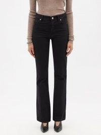 RAEY Angel black high-rise bootcut jeans   womens casual organic-cotton denim fashion