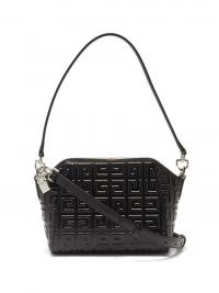 GIVENCHY Antigona logo embossed 4G XS black leather cross-body bag