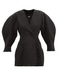 ELZINGA Balloon-sleeve twill blazer mini dress | volume sleeve LBD | little black dresses