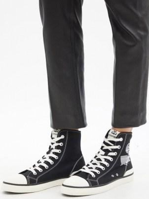 ISABEL MARANT Benkeen logo-print high-top canvas trainers / womens designer high top sneakers