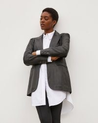 River Island Black RI Studio Leather Blazer – womens tailored blazers – women's fashionable jackets