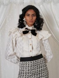 sister jane DREAM GRANDMA'S HOUSE Scrapbook Bow Blouse / romantic ruffled vintage style blouses