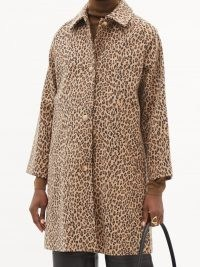 A.P.C. Alice leopard-print brushed wool-blend coat / womens chic outerwear / glamorous animal prints / women's brown autumn coats