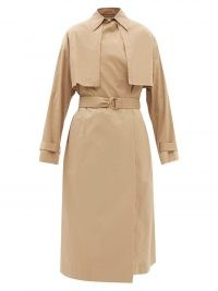 ANOTHER TOMORROW Organic cotton-blend trench coat   womens beige belted autumn coats