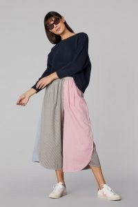 gorman CLIPPED CHAMBRAY SKORT   womens lightweight denim fashion   longline colour block skorts   women's organic cotton fashion