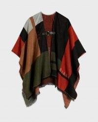 SUFIAH Colour Block Poncho ~ womens multicoloured ponchos ~ women's autumn outerwear