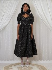sister jane DREAM Agnes Jacquard Midi Dress | dresses from the GRANDMA'S HOUSE collection | pudd sleeve fit and flare