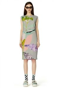 gorman x Kaitlin Johnson FLORET PLEAT DRESS – floral pprint pleated dresses – womens recycled polyester fashion