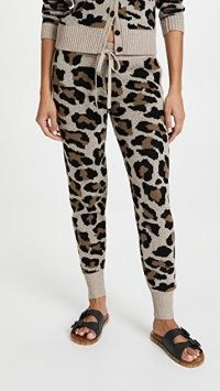Generation Love Benny Leopard Pants / knitted animal print joggers