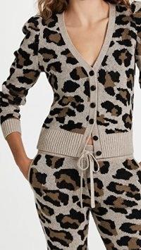 Generation Love Grace Leopard Cardigan / animal print V-neck cardigans