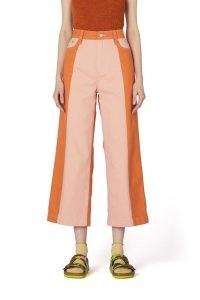 gorman GENIE CONTRAST JEAN   pink and orange cropped spliced denim jeans   colour block fashion