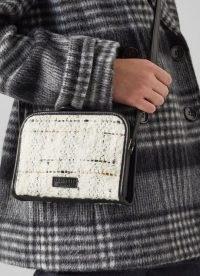 L.K. BENNETT GIGI CREAM TWEED CROSSBODY BAG ~ textured cross body bags